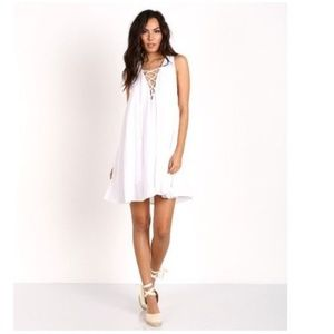 Show Me Your MuMu Rancho Mirage Lace Up Dress